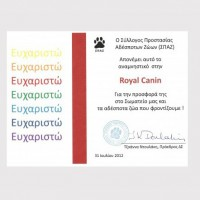 Royal Canin donated food to the strays 2013
